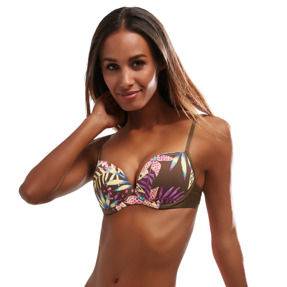 Kris Line Paradise Beach brassiere brązowy