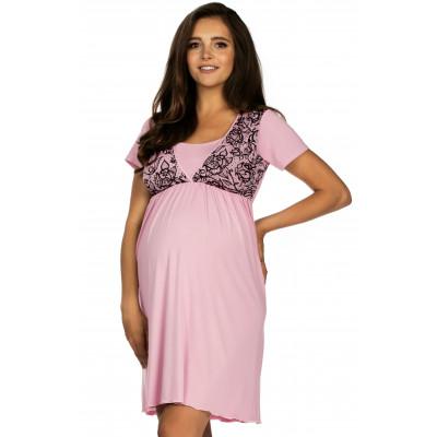 Lupoline 3006 koszula nocna damska różowa